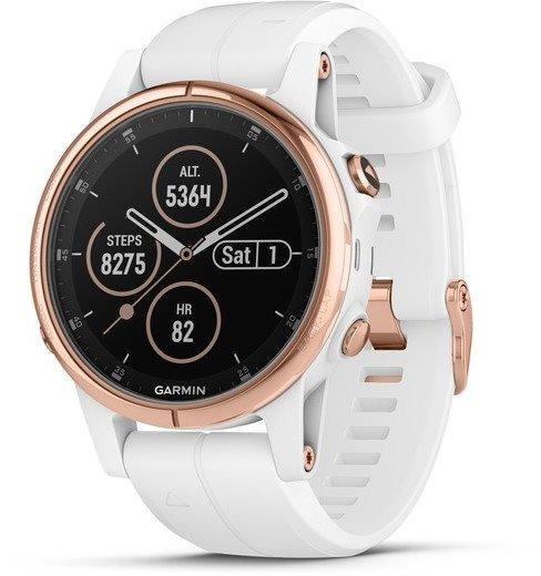 Reloj Garmin Garmin fenix5S Plus Sapphire Rose Gold, White Band