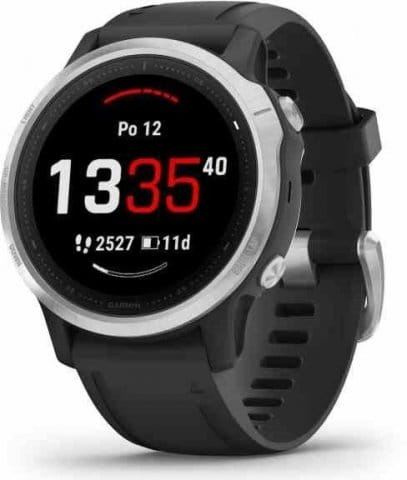 Garmin fenix6S Glass Silver/Black Band