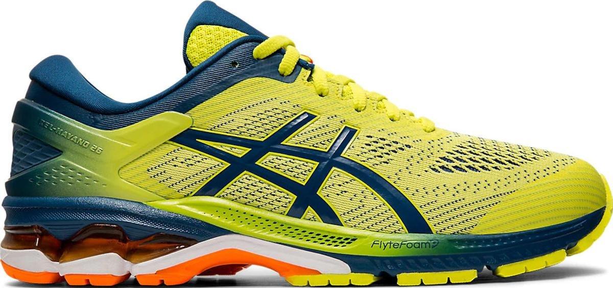 scarpe running asics gialle