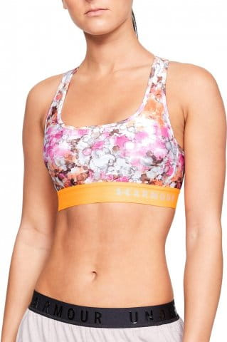 Armour Mid Crossback Printed Bra