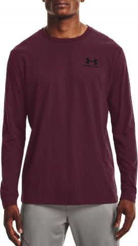 UA SPORTSTYLE LEFT CHEST LS-RED