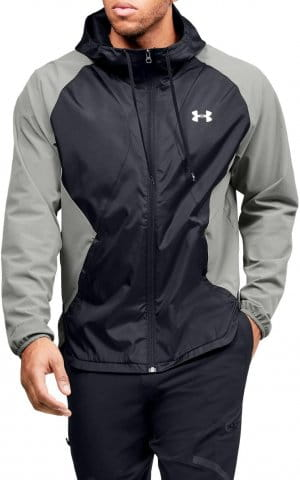 STRETCH-WOVEN HOODED JACKET