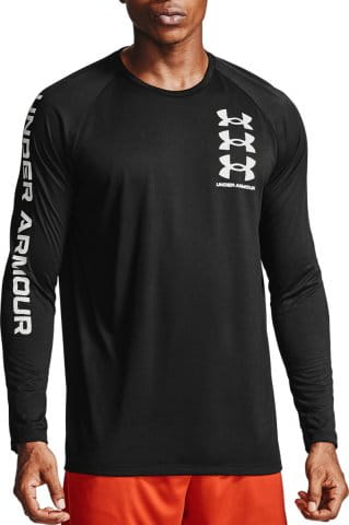 UA TECH TRIPLE LOGO LS