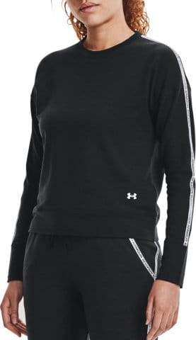 UA Rival Terry Taped Crew-BLK