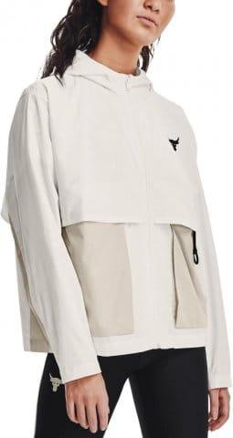 UA Prjct Rock Woven Jacket-WHT