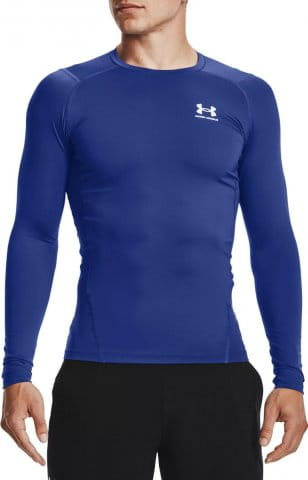 UA HG Armour Comp LS-BLU