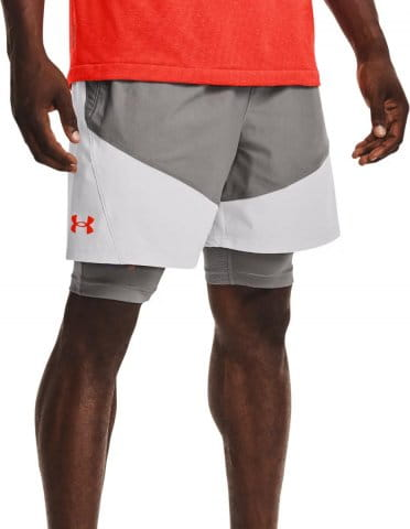 UA Knit Woven Hybrid Shorts-GRY