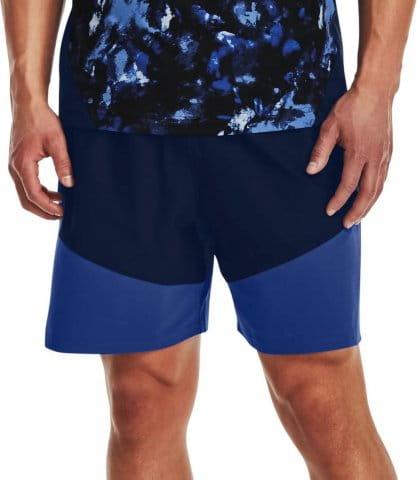 UA Knit Woven Hybrid Shorts-NVY