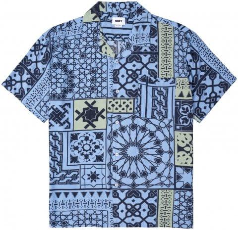 Obey Pathos Woven Hemd Blau FNVM