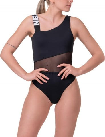 One shoulder sporty swimsuit