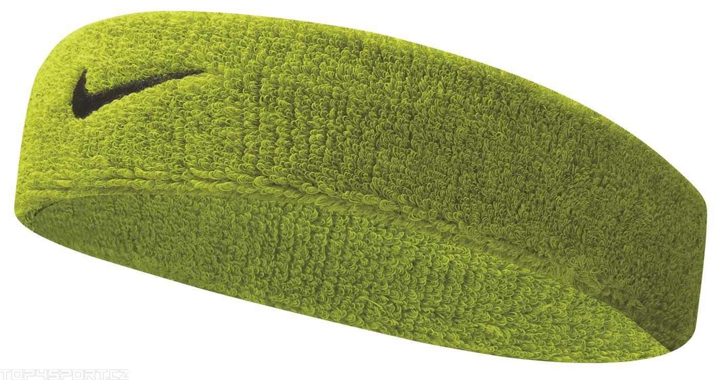 Nike SWOOSH HEADBAND Fejpánt - Zöld - ks