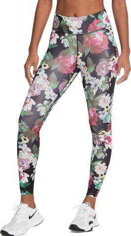 W NK ONE FLORAL 7/8 TIGHTS