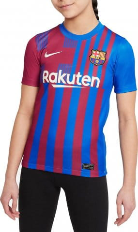 FC Barcelona 2021/22 Stadium Home Big Kids Soccer Jersey