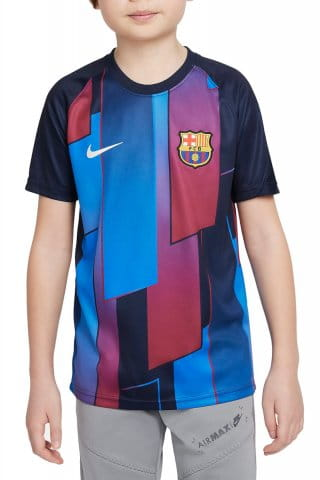 FC Barcelona Big Kids Pre-Match Short-Sleeve Soccer Top