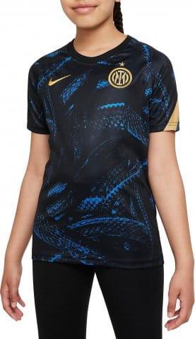 Inter Milan Big Kids Pre-Match Short-Sleeve Soccer Top