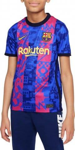FC Barcelona 2021/22 Stadium Third Big Kids Soccer Jersey