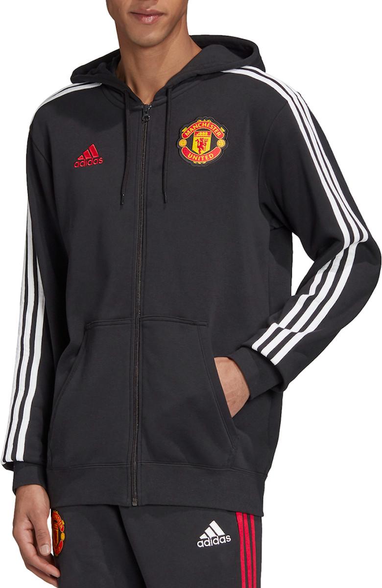 Mikina s kapucňou adidas MUFC 3S FZ Hoodie