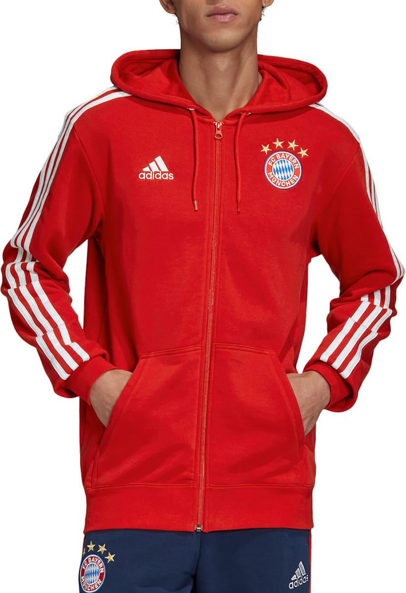 Mikina s kapucňou adidas FC Bayern 3S FZ Hoodie