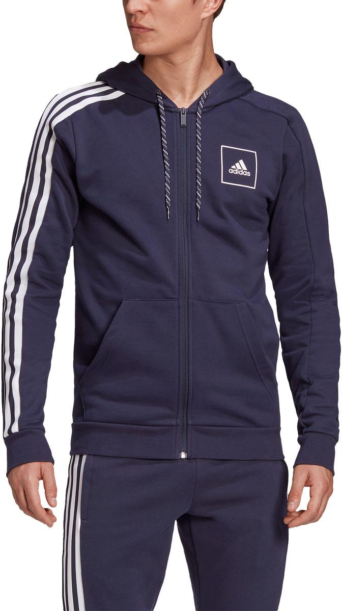 Mikina s kapucňou adidas M 3 stripes tape Full Zip Hoodie