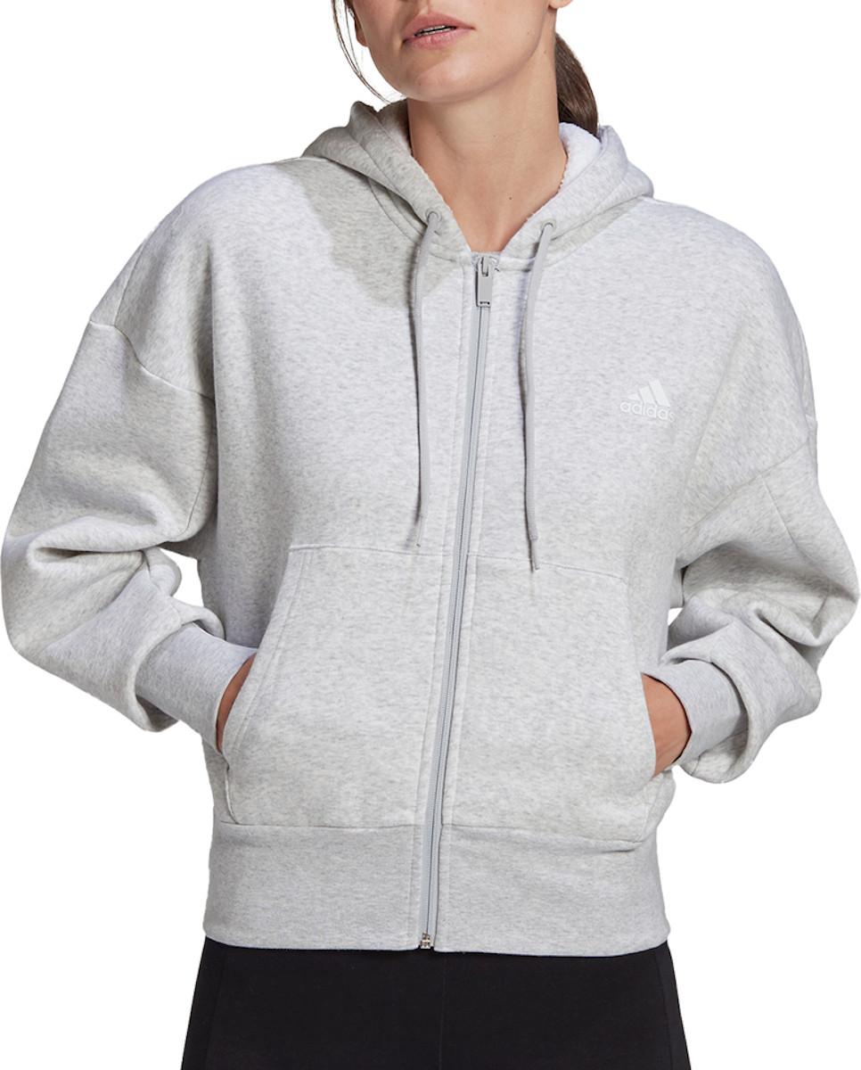 Mikina s kapucňou adidas BIG BOS FZ HOODIE W