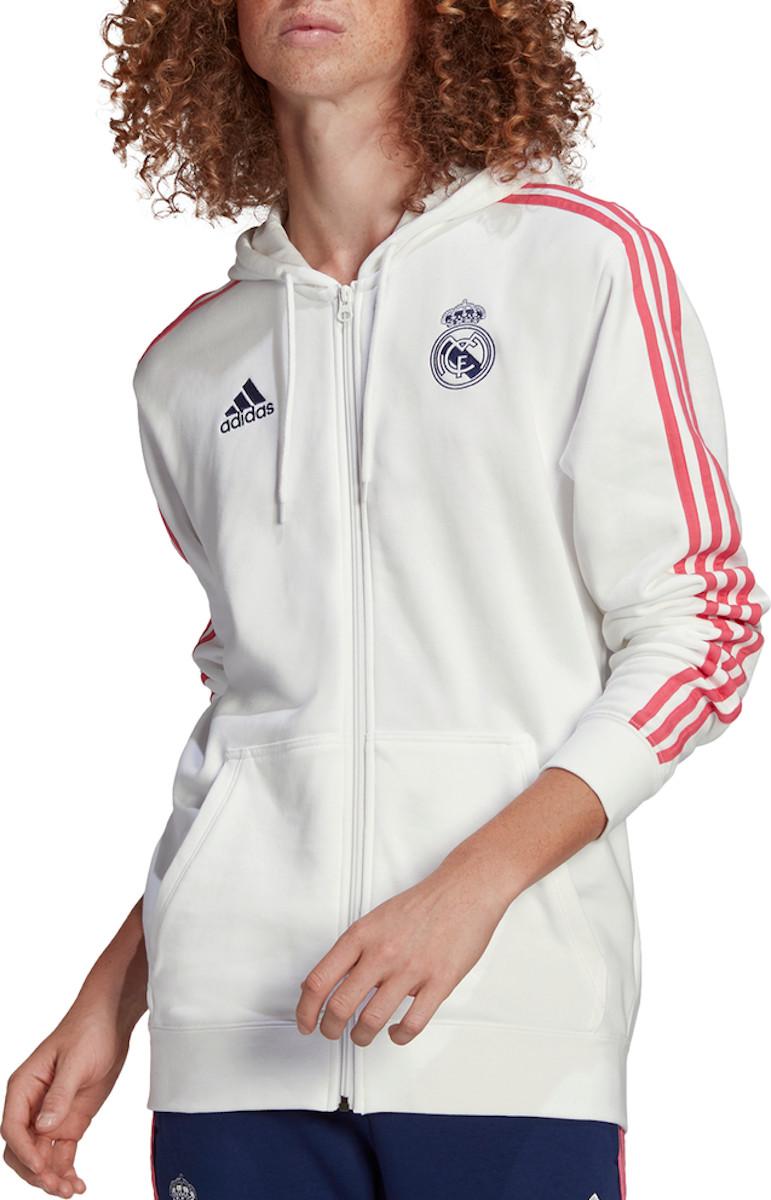 Mikina s kapucňou adidas REAL MADRID 3S FZ HOODY
