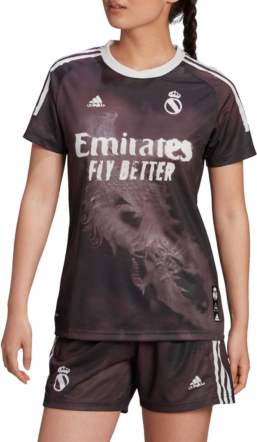 Dres adidas REAL MADRID HUMAN RACE JERSEY WOMEN