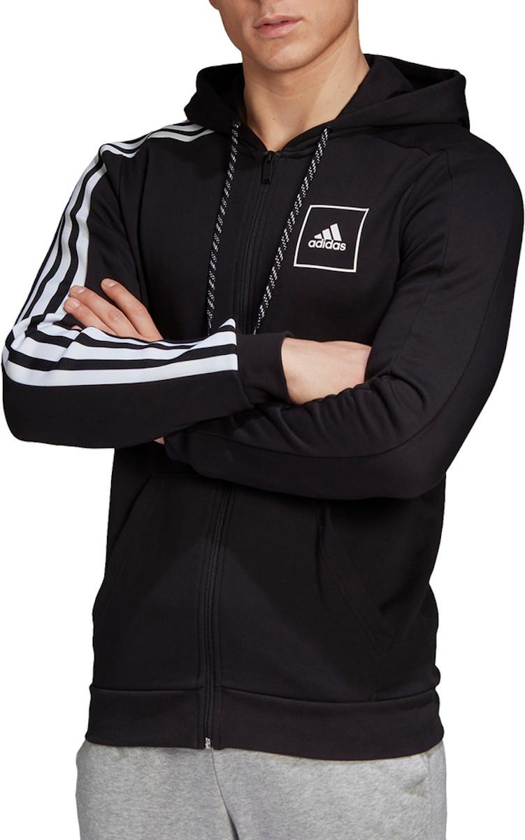 Mikina s kapucňou adidas 3S Tape FZ Hoodie