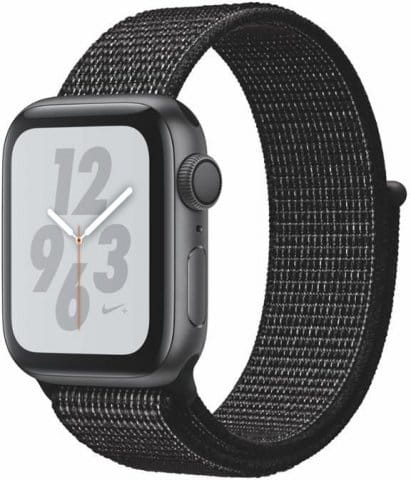 Apple Watch + Series 4 GPS, 40mm Space Grey Aluminium Case with Black Sport Loop