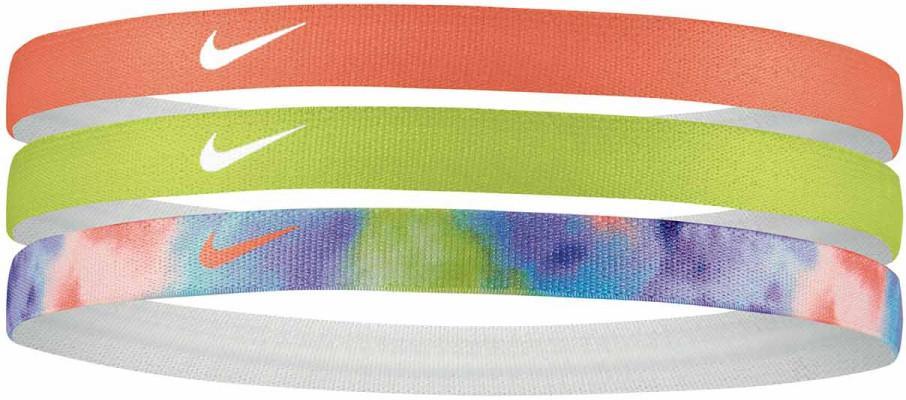Nike PRINTED HEADBANDS 3PK Fejpánt - Narancs - ks