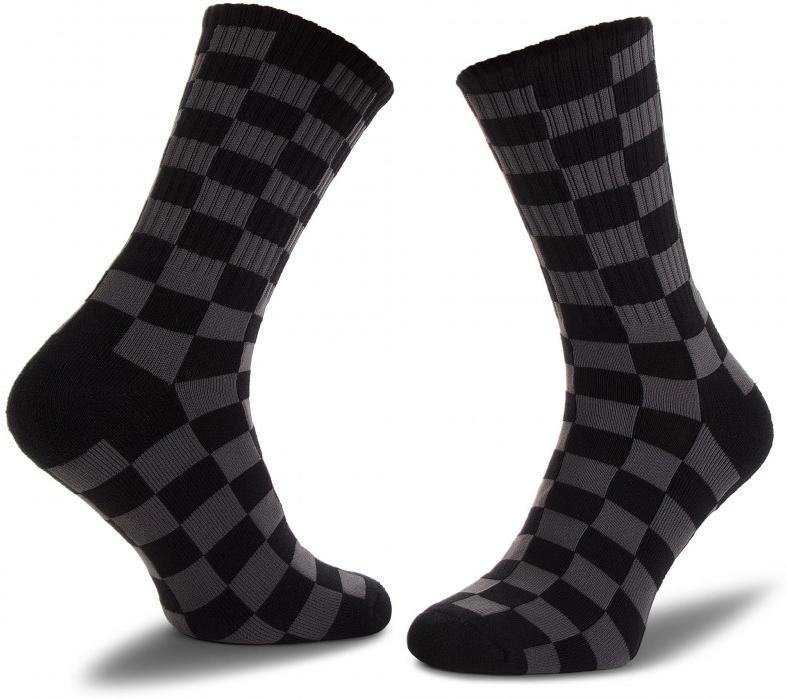 Ponožky Vans MN CHECKERBOARD CREW Black/Charcoal