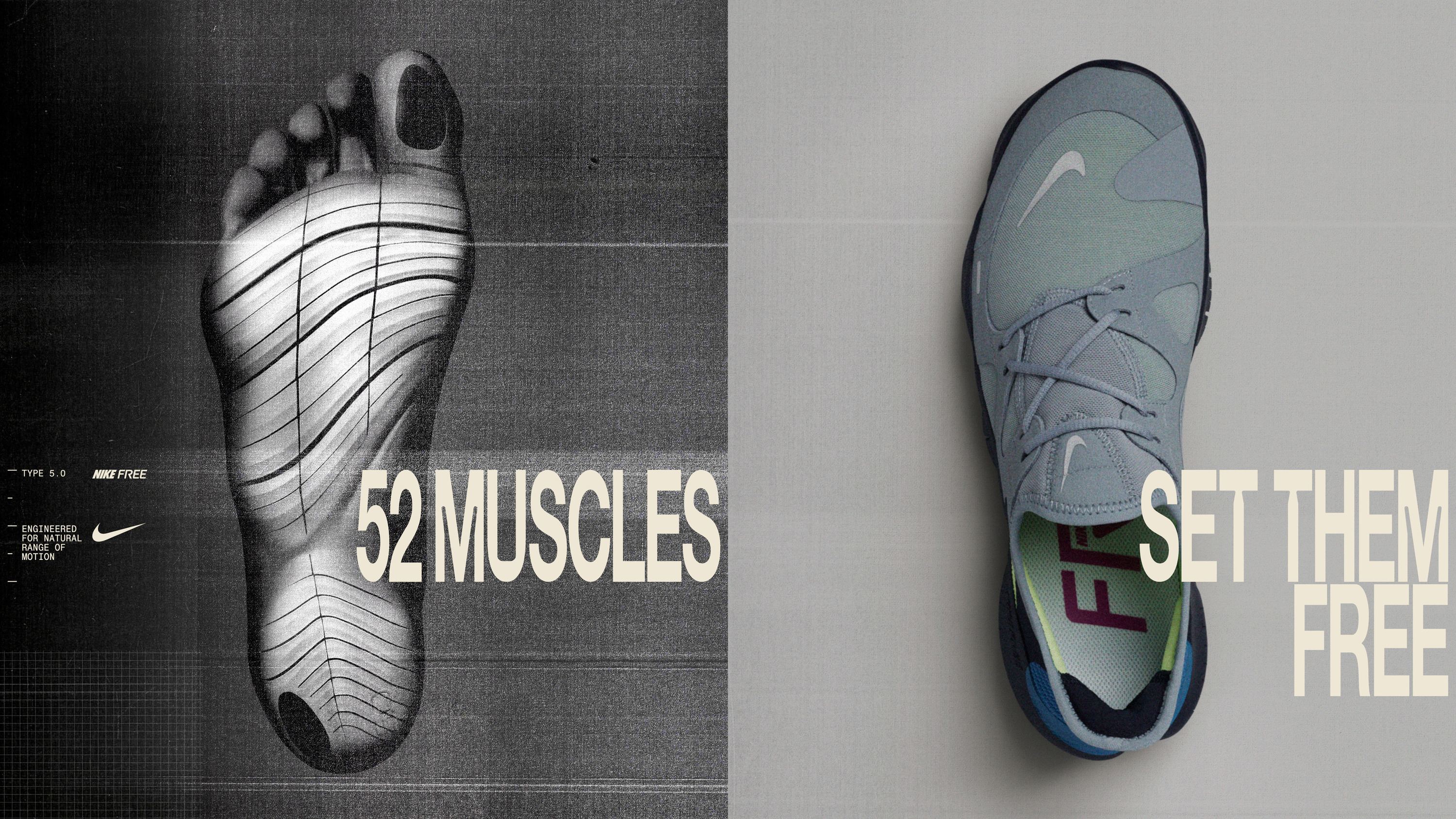 muscles on your feet with Nike Free