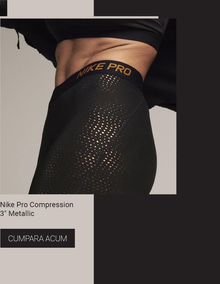 "Nike Pro Compression 3"" Metallic"