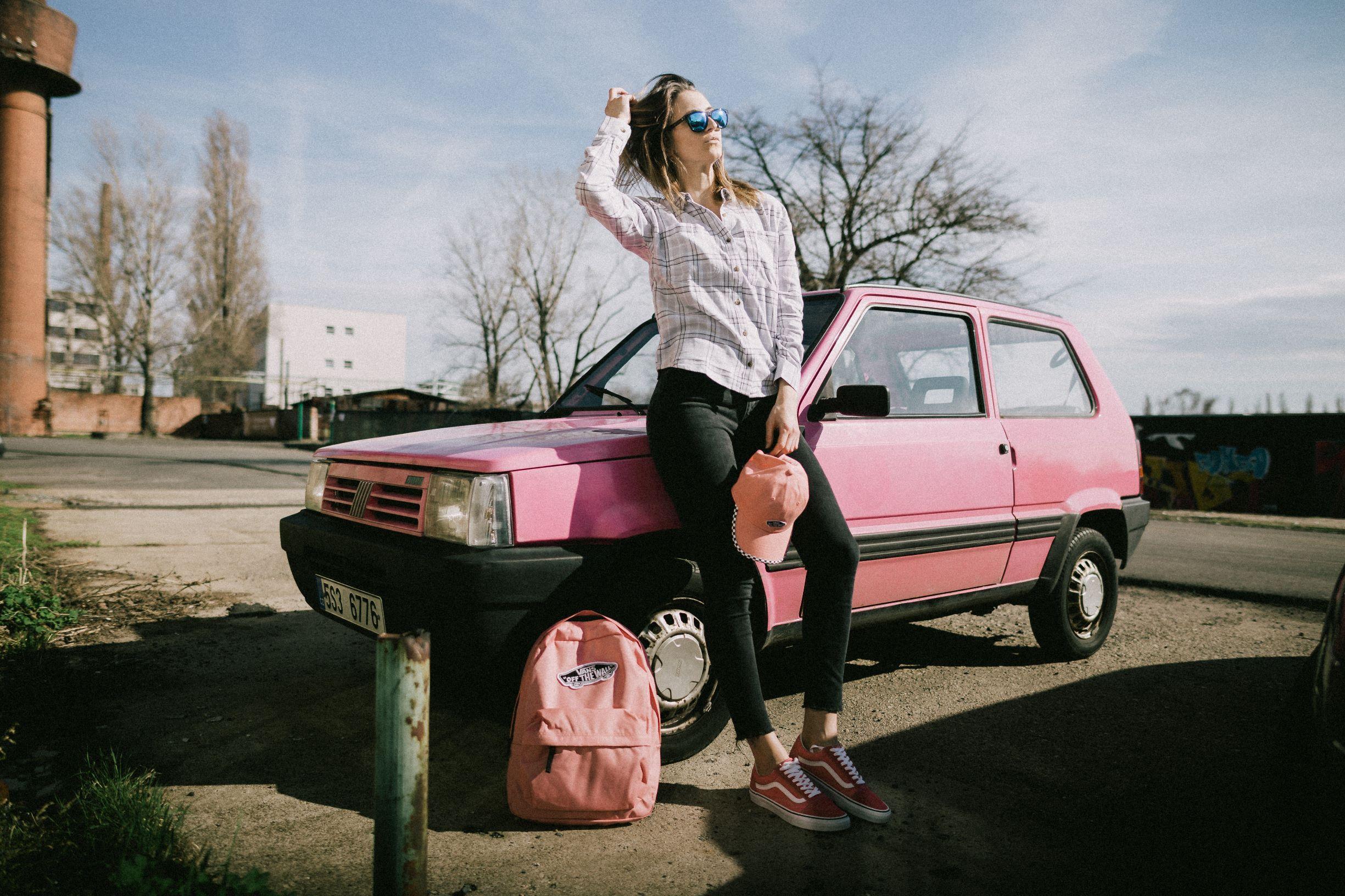 jarní outfit růžový