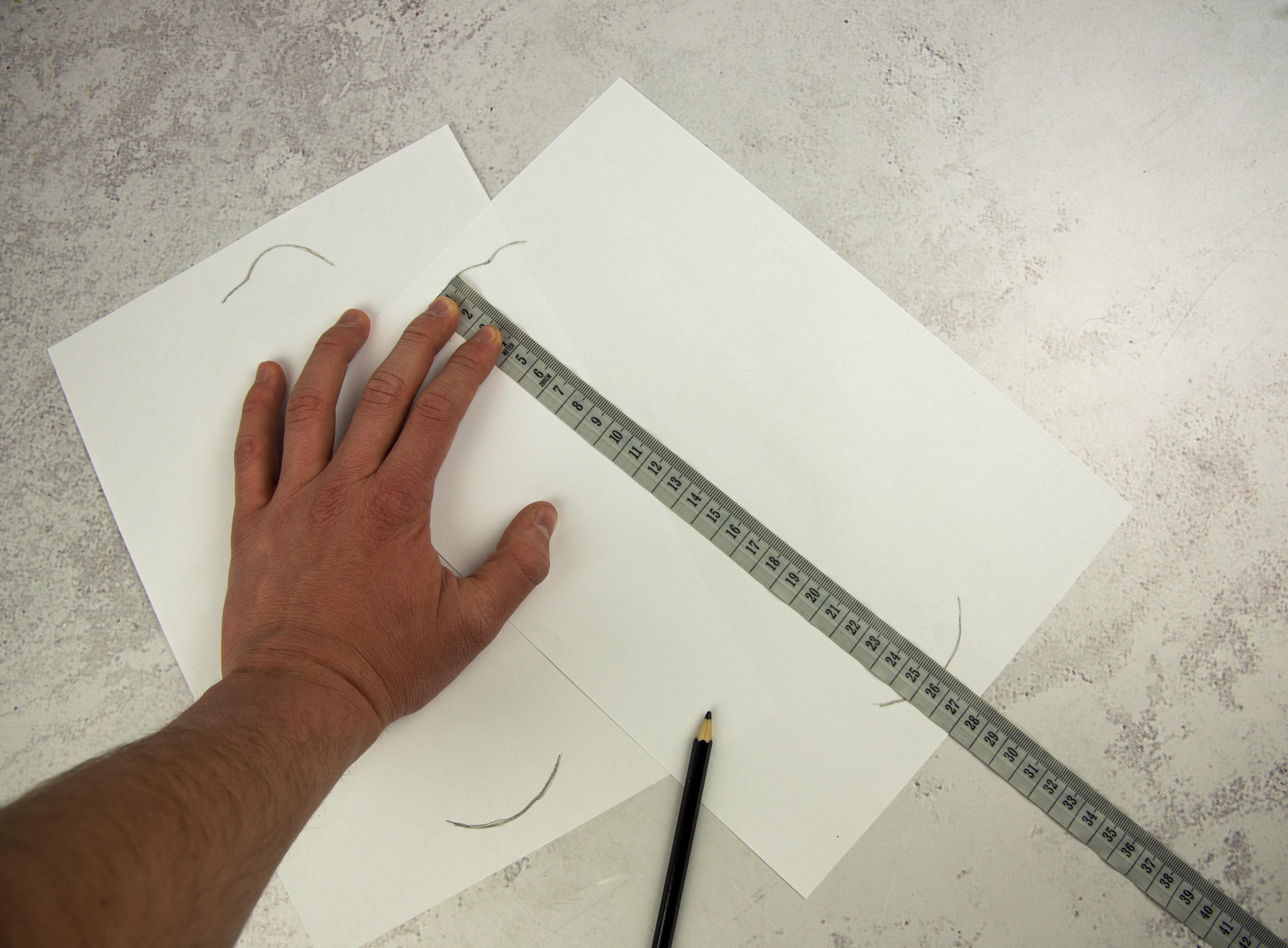 měření délky chodidla