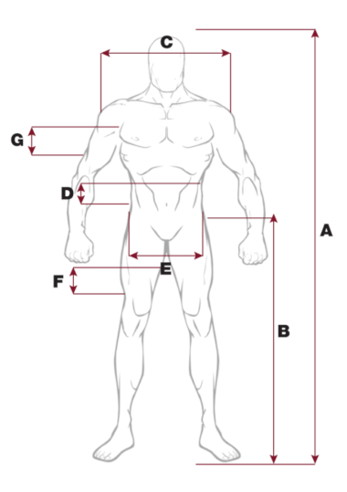 Mens's size chart