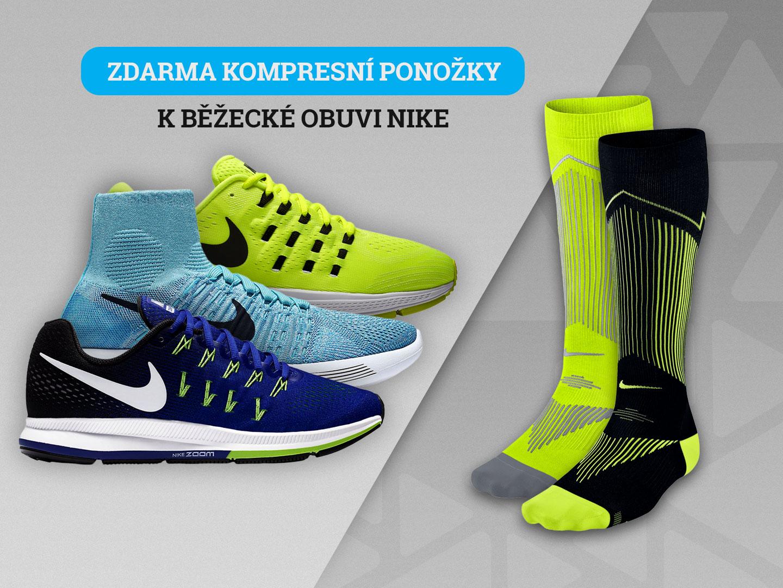 Kompresky zdarma k nákupu běžeckých bot Nike