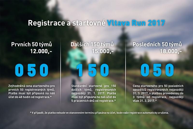 Od příštího týdne se můžete registrovat na Vltava Run 2017
