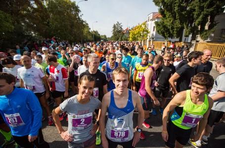 Vítek Pavlišta na startu pražské RunTour