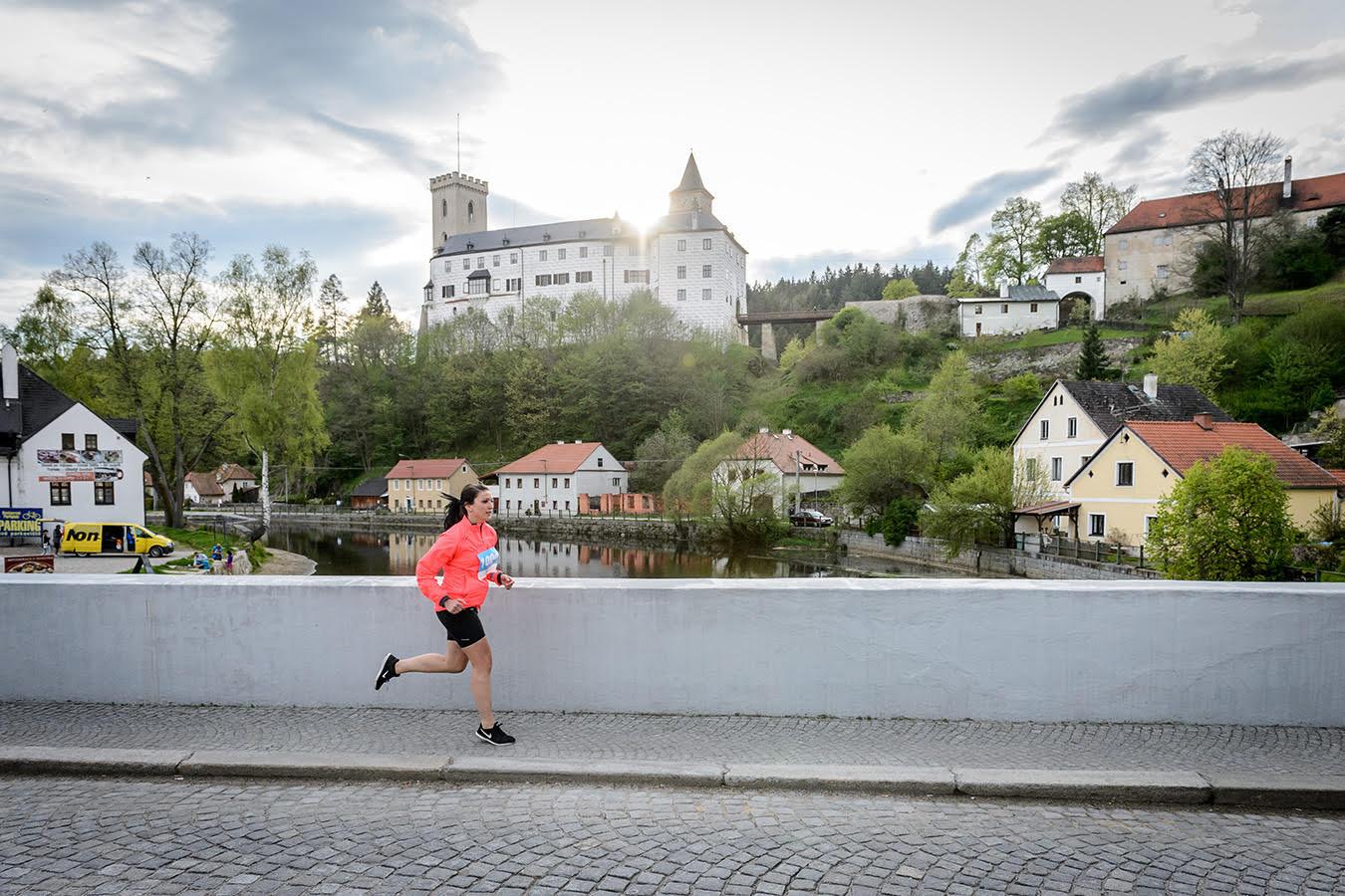 Průběh Rožmberkem na Vltava Run 2017