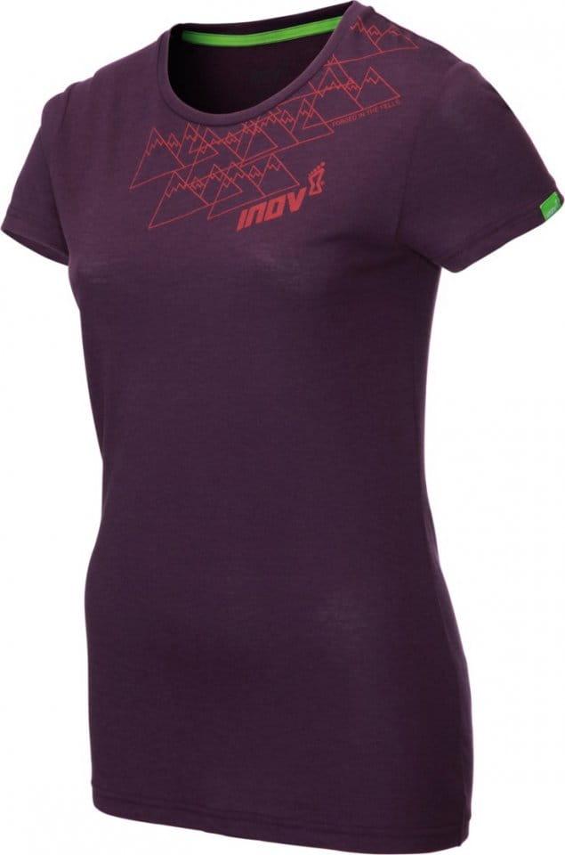 Dámské triko s krátkým rukávem INOV-8 TRI BLEND SS angle