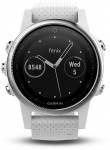 Hodinky Garmin GARMIN fenix5S Silver Optic, White band