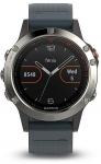 Hodinky Garmin GARMIN fenix5 Silver Optic, Granite Blue band