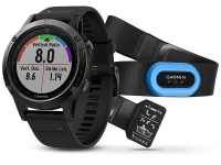 GARMIN fenix5 Ssapphire Black Optic TRI Performer, Black band