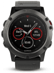 Garmin fenix5X Sapphire Gray Optic, Black