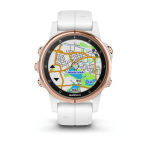 Uhren Garmin Garmin fenix5S Plus Sapphire Rose Gold, White Band