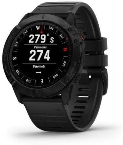 Garmin fenix6X PRO Glass, Black/Black Band (MAP/Music)