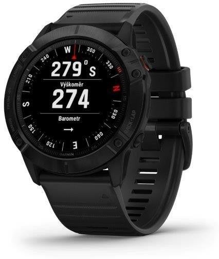 Reloj Garmin Garmin fenix6X PRO Glass, Black/Black Band (MAP/Music)