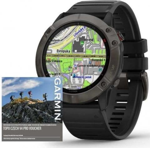 Ručni sat Garmin Garmin fenix6X PRO Sapphire GrayDLC/Black Band (MAP/Music)