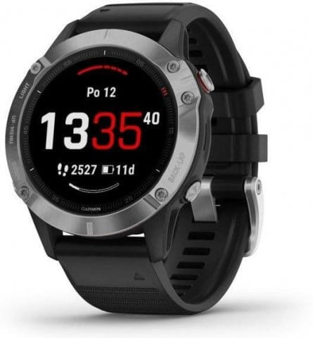Montre Garmin Garmin fenix6 Glass, Silver/Black Band
