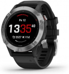 Hodinky Garmin Garmin fenix6 Glass, Silver/Black Band